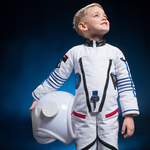 kid with astronaut suit